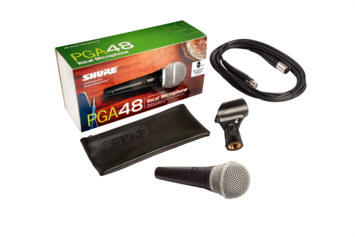 Shure PGA48 Cardioid Dynamic Microphone with XLR Cable