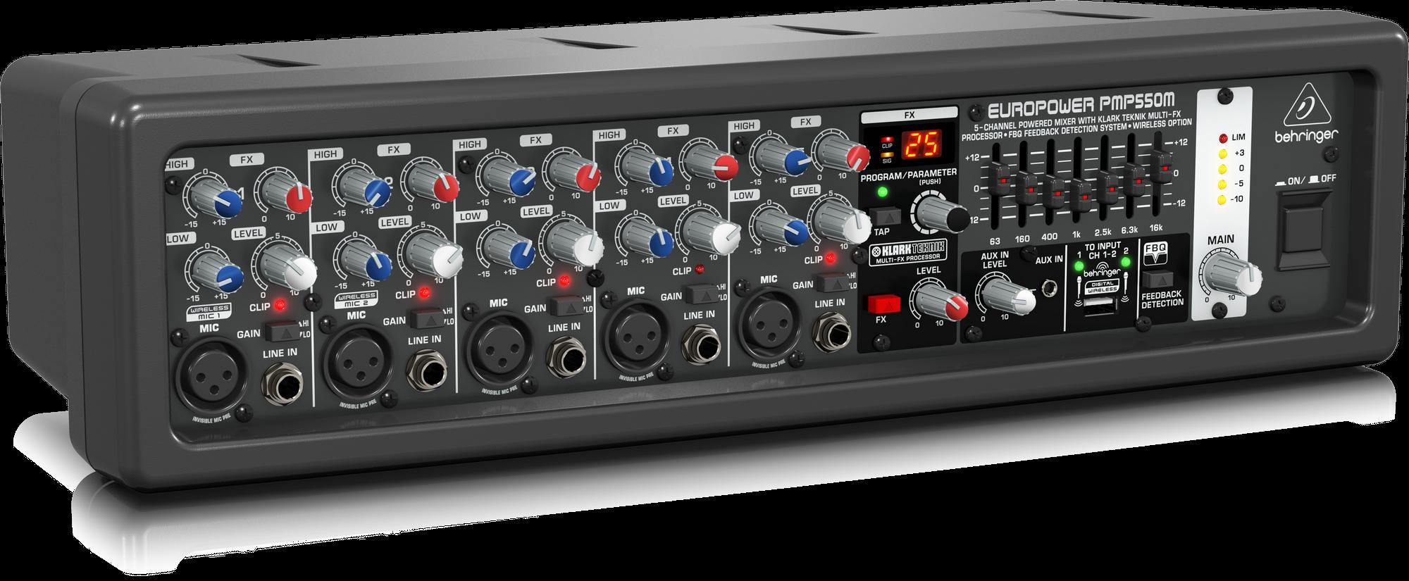 Behringer PMP550M Behringer 500W 5-Channel Mixer M-FX