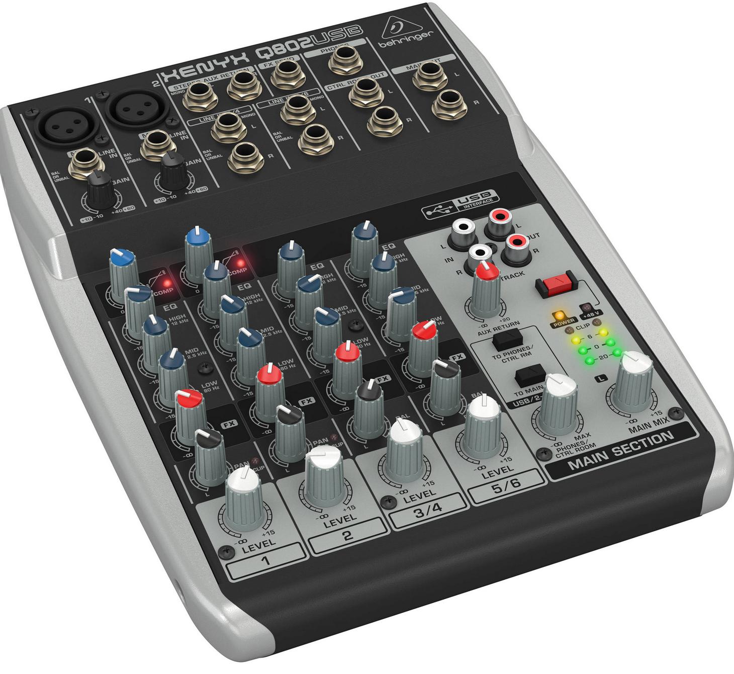 Behringer Q802USB 8-Input 2-Bus Mixer XENYX/EQ