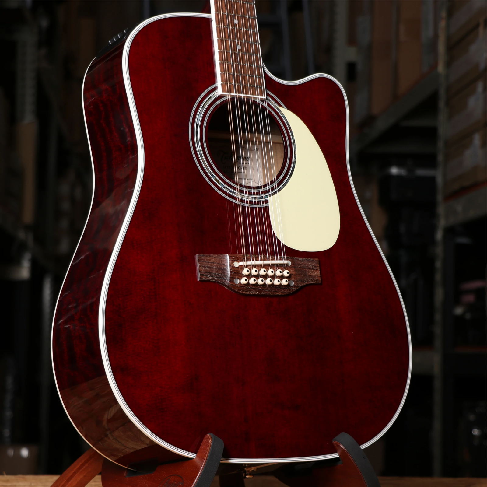Takamine JJ325SRC-12 John Jorgenson, 12-String Acoustic/Electric Gloss Red