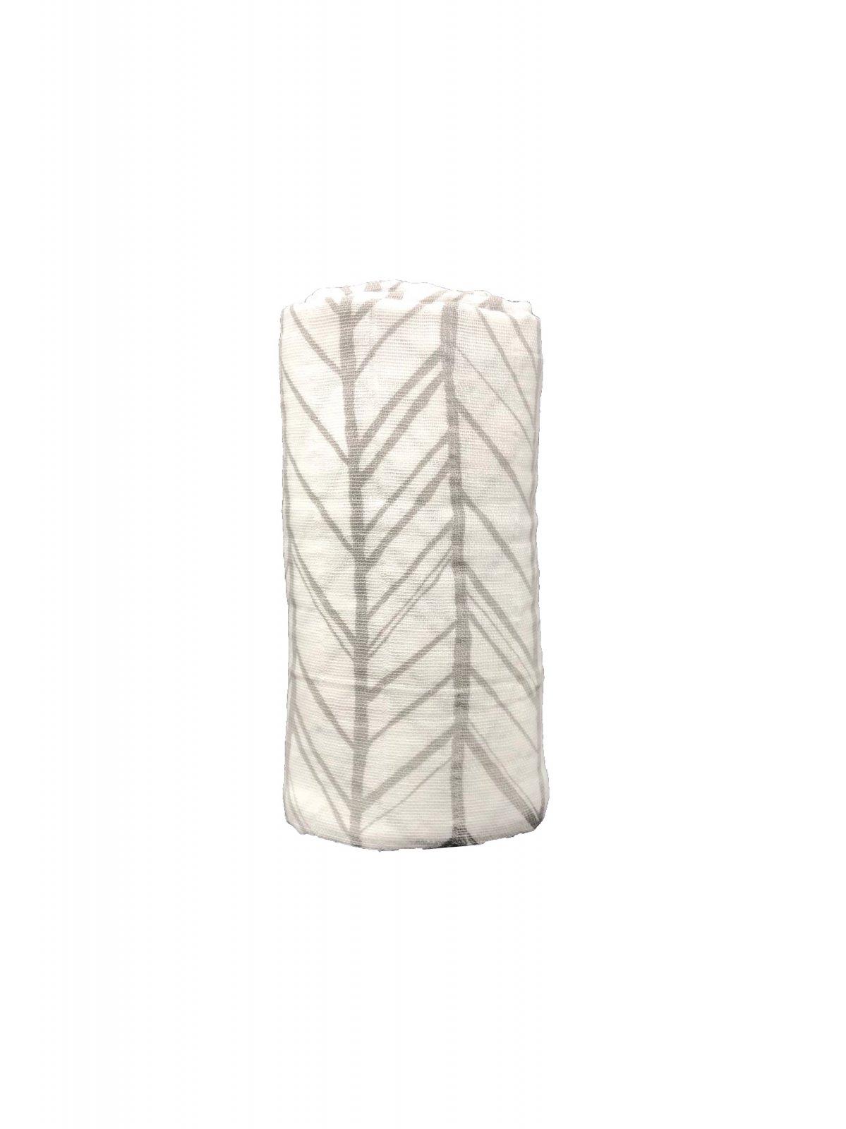 Herringbone Gray Swaddle
