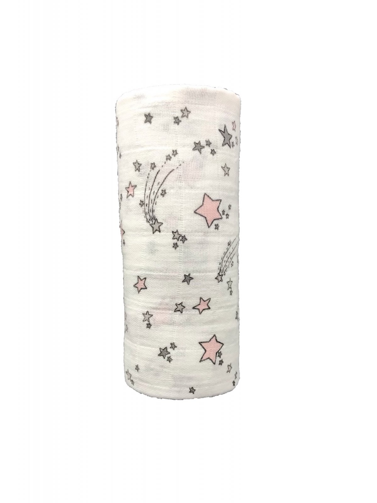 Shooting Star  Pink & Gray Swaddle