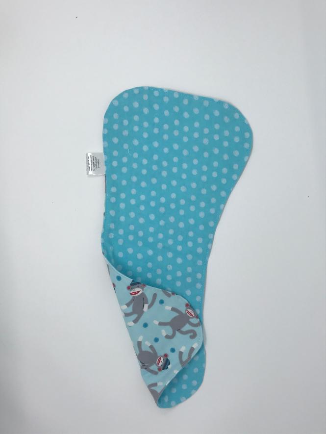 Blue Monkey Burp Cloth