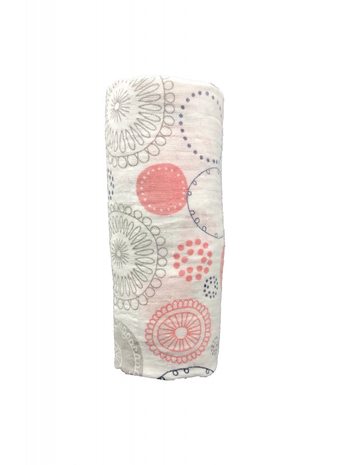 Whimsey Circle Coral Swaddle