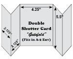 Pre-scored double shutter cards