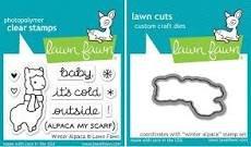 Lawn Fawn Winter Alpaca stamp & die bundle