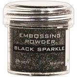 Black Sparkle Embossing Powder
