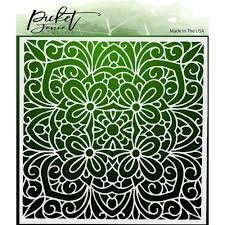 Picket Fence 6x6 Coloring Book stencil