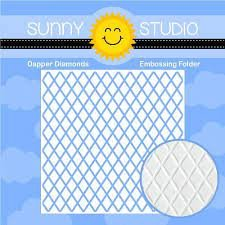 Sunny Studios Dapper Diamonds Embossing Folder