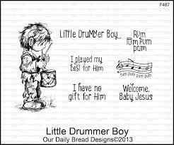 ODB Little Drummer Boy cling stamp set