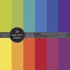 Memory Box Jewel Glitter 6x6 paper pad