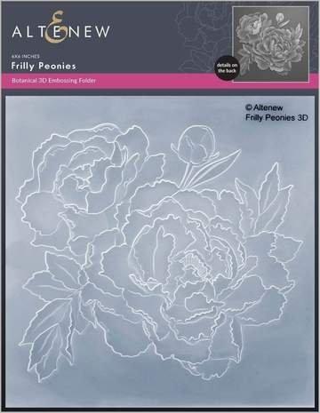 Altenew Frilly Peonies 3D embossing folder