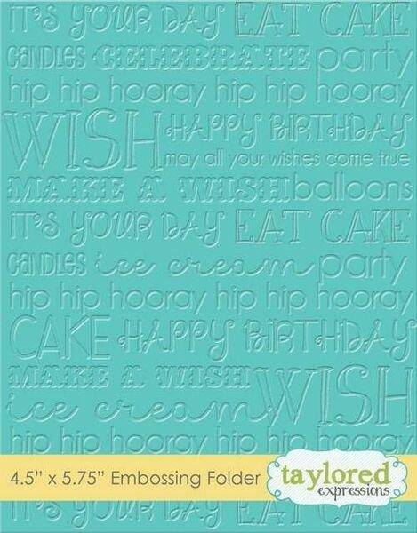 TE Graphic Impressions-Birthday embossing folder