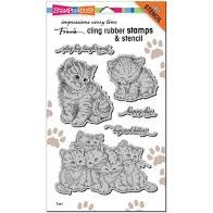 Stampendous Kitten Hugs stamp