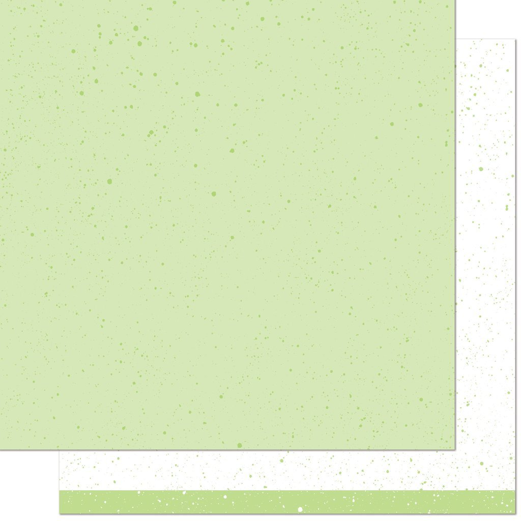 Lawn Fawn Spiffy Speckles 12x12  paper in Pesto