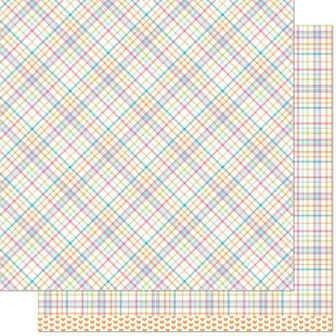 Lawn Fawn Perfectly Plaid 12x12 paper in Kristin REMIX