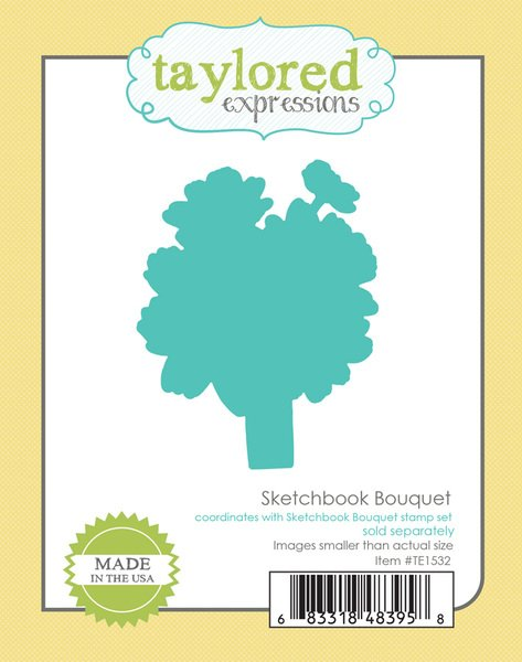 TE Sketchbook Bouquet  stencil mask (matching stamp and die sets sold separately)