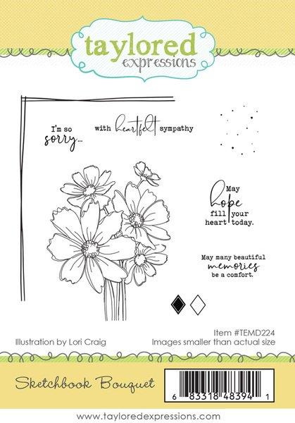 TE Sketchbook Bouquet stamp set