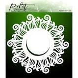 Picket Fence 6x6 Wave Sun stencil