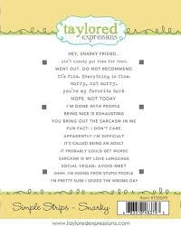 Taylored Expressions Sympathy Simple Strips Stamp