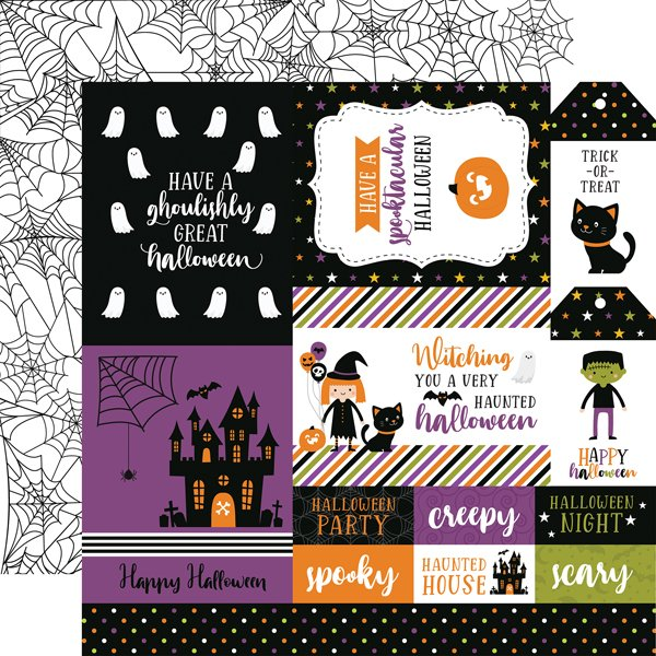 Echo Park Halloween Magic multi journaling card paper