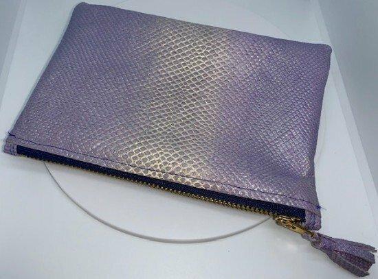 Lizard Leather C-Clutch