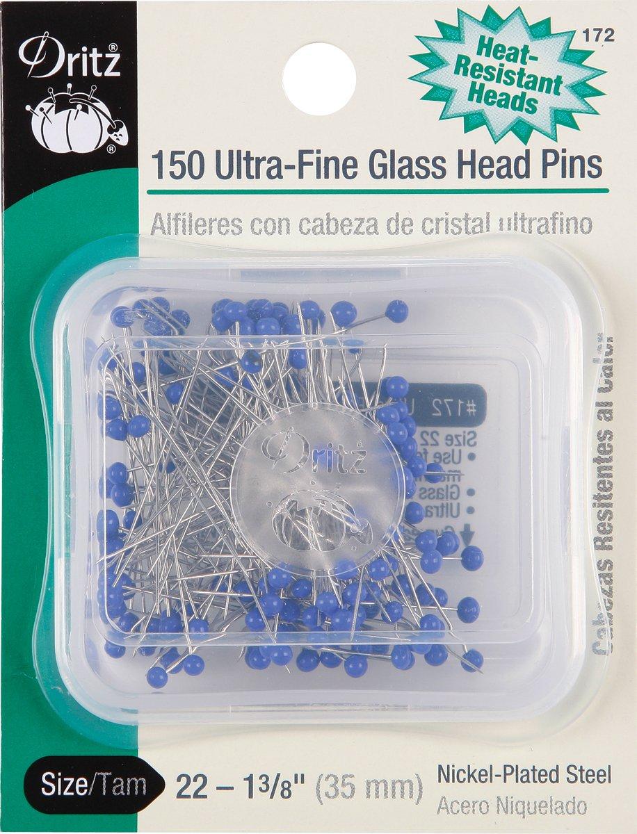 Dritz Ultra-Fine Glass Head Pins 150/Pkg