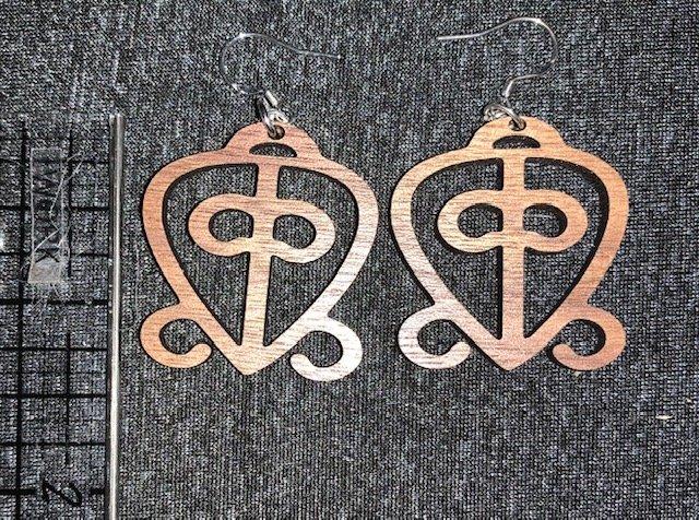 Adinkra Symbol Earrings