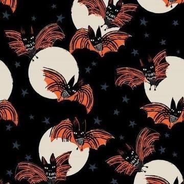 Dashwood Studio Full Moon Bats Fabric 1880