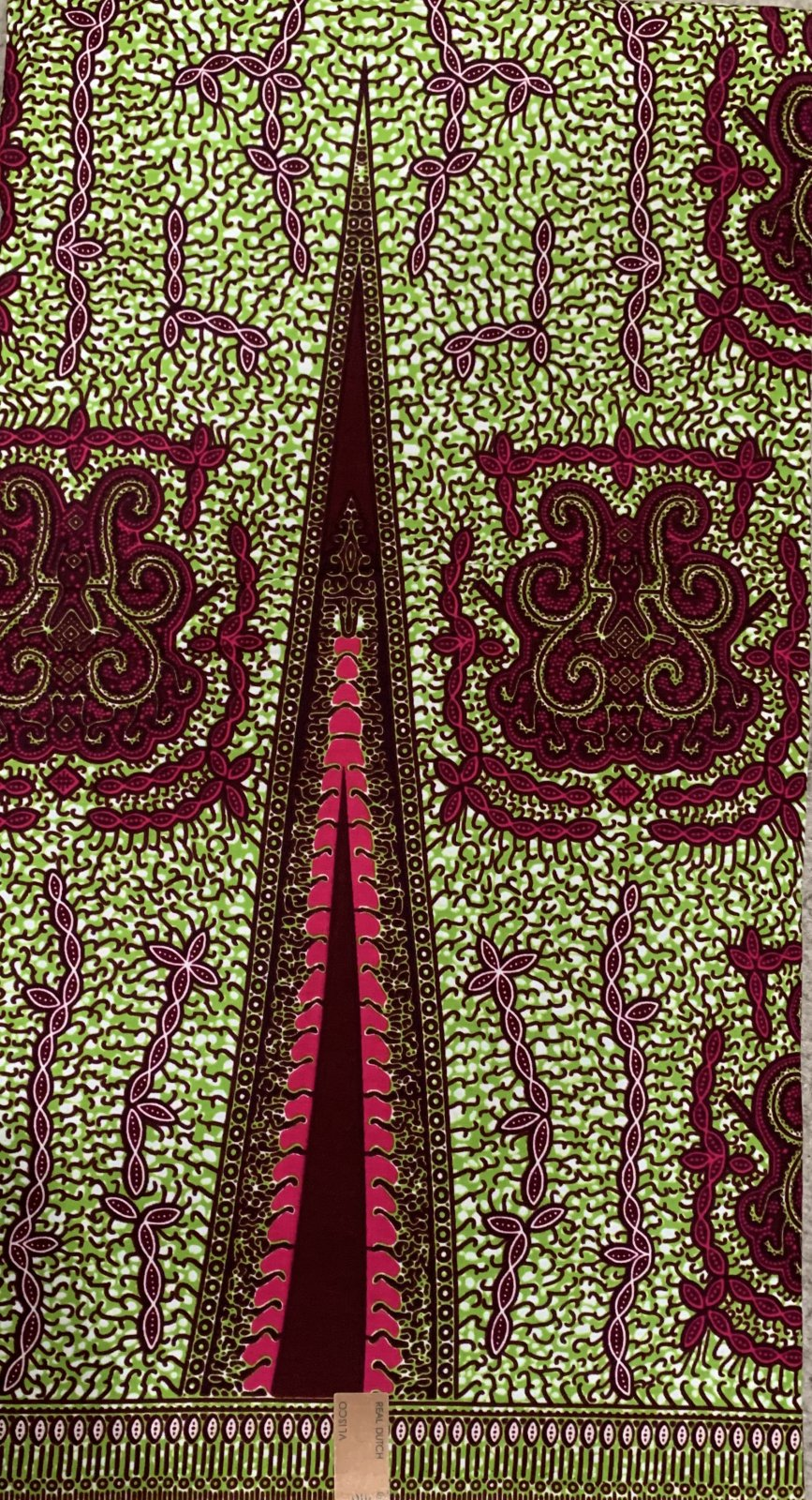 Green and Red Fabric