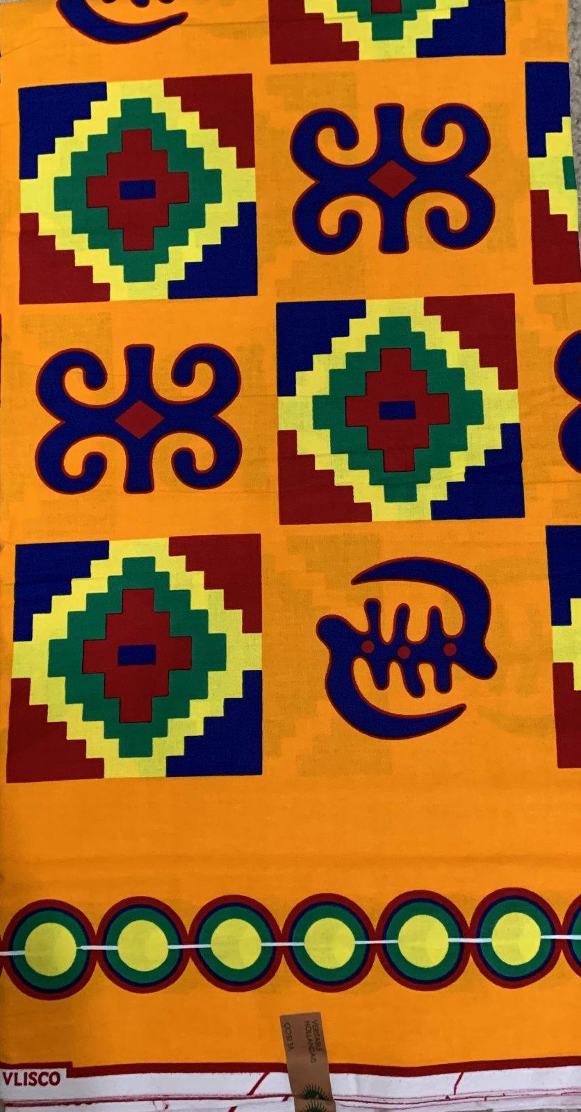 Adinkra Symbols Fabric