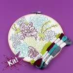 Succulent Garden 8 Embroidery Kit