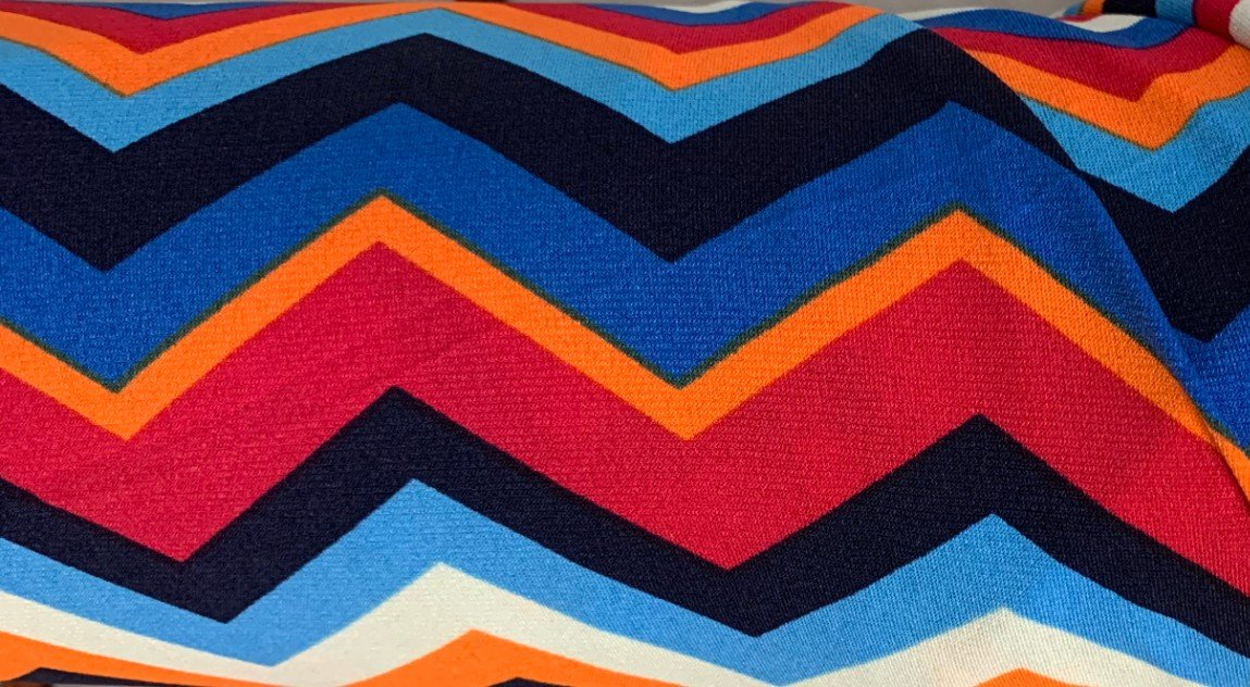 Multi-Color Zig to Zag Knit
