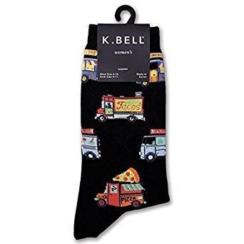 K. Bell Women's Food Truck Crew Socks