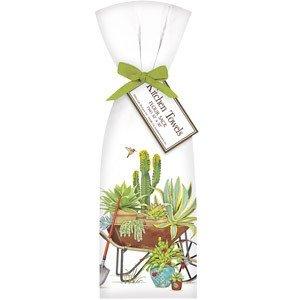 Flour Sack Cactus Wheelbarrow Towel