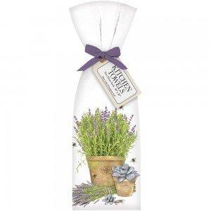 Flour Sack Lavender Pot Towel