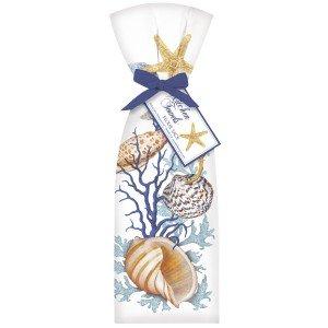 Flour Sack Coral & Shells Towel