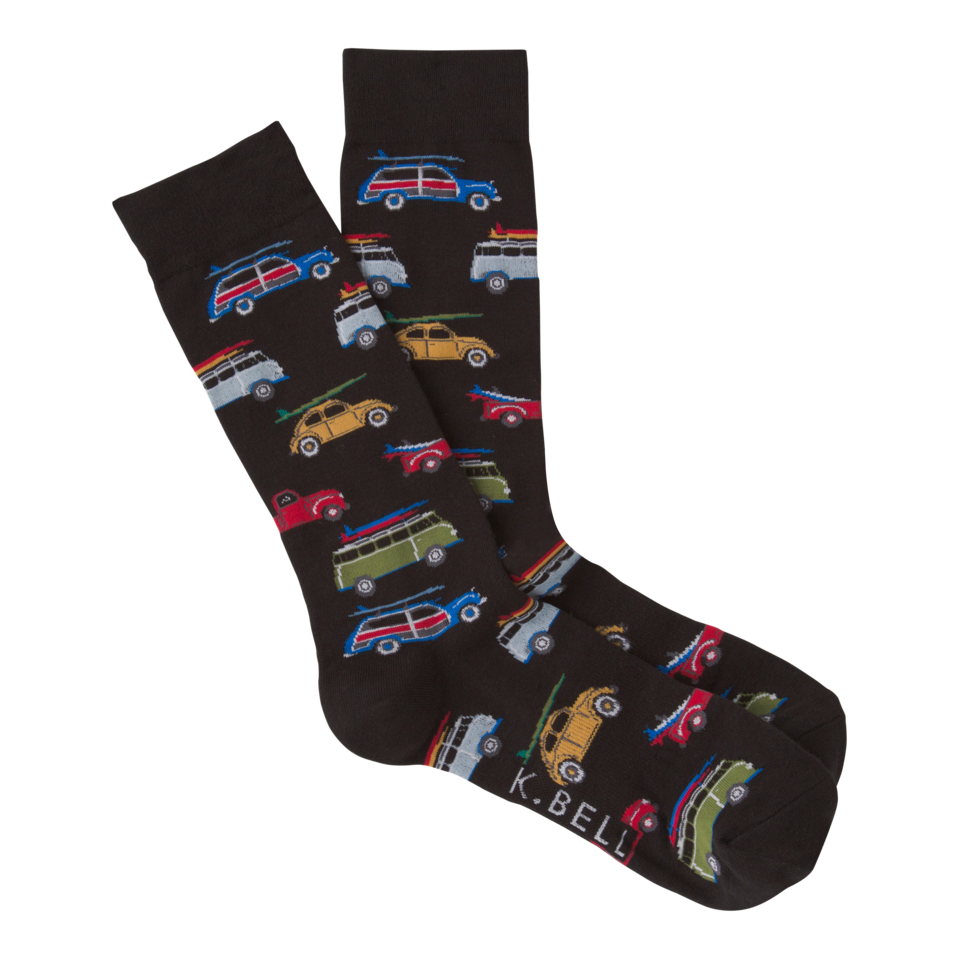 K. Bell Men's Woody Crew Socks