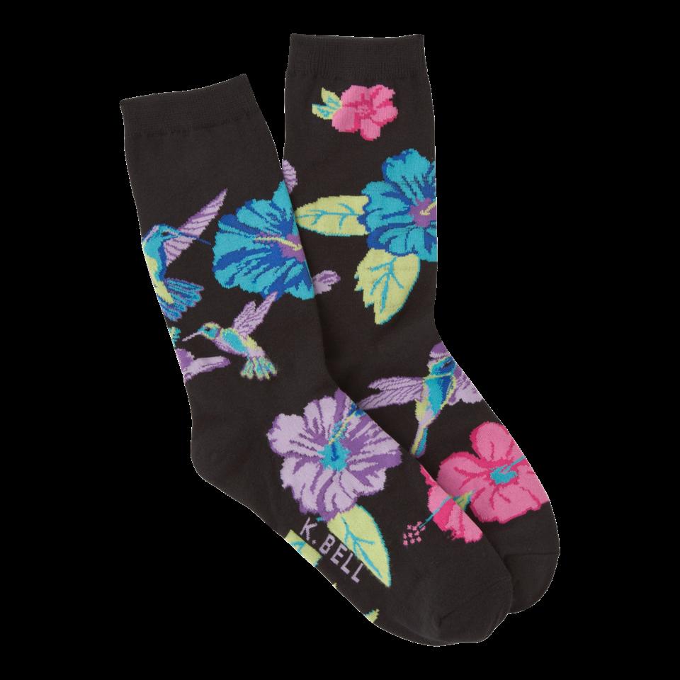 K. Bell Women's Hummingbird Crew Socks