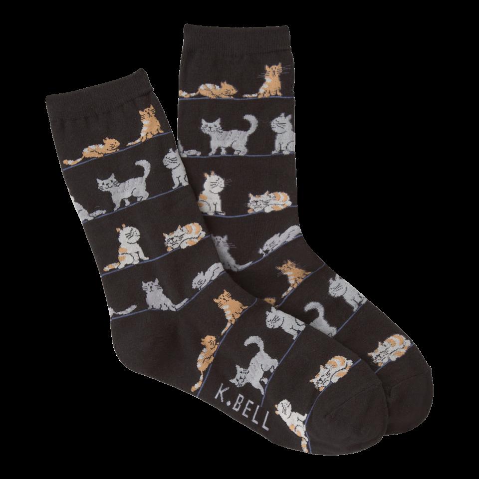 K. Bell Women's Cats Crew Socks