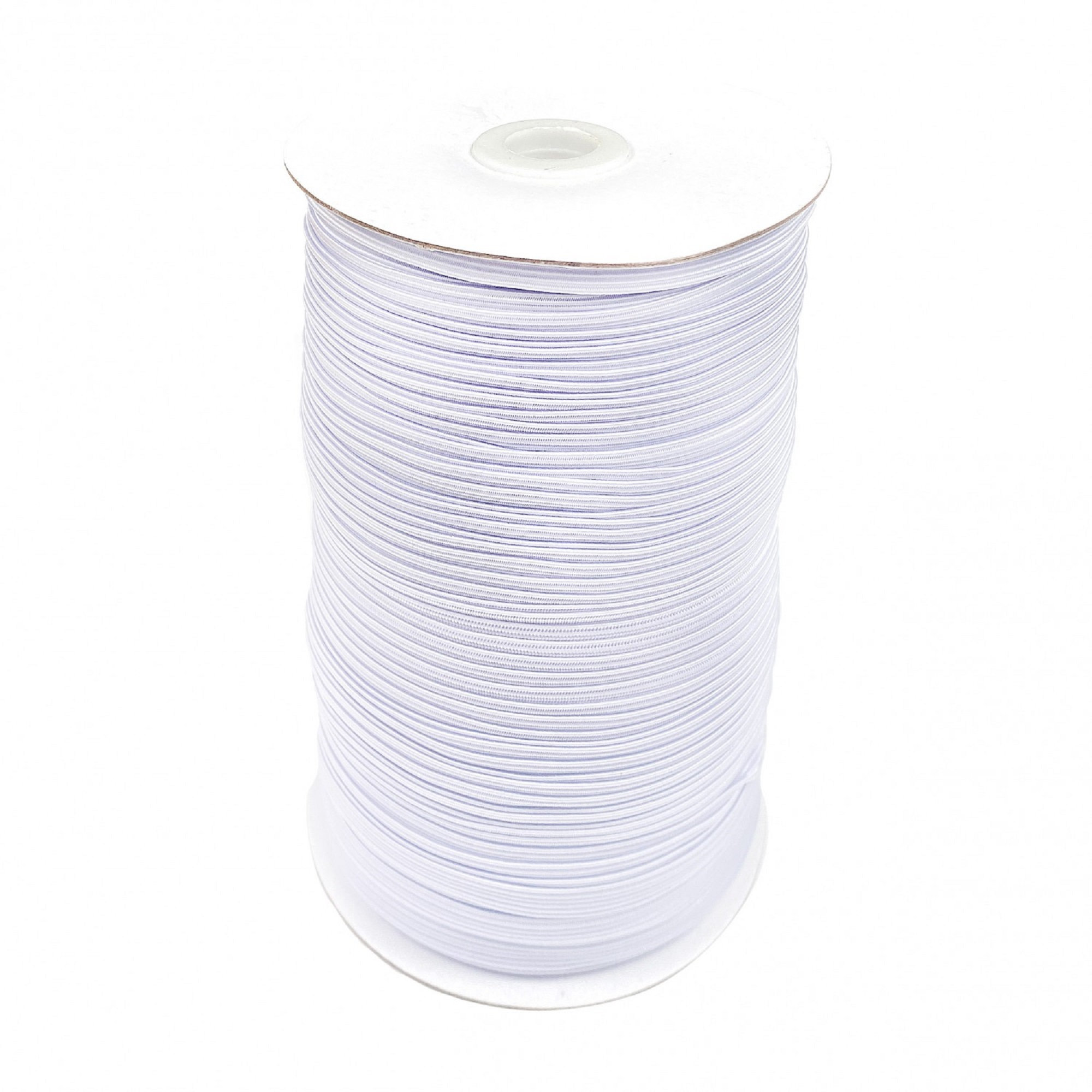 1/4 Flat White Elastic Latex Free - 5 yards