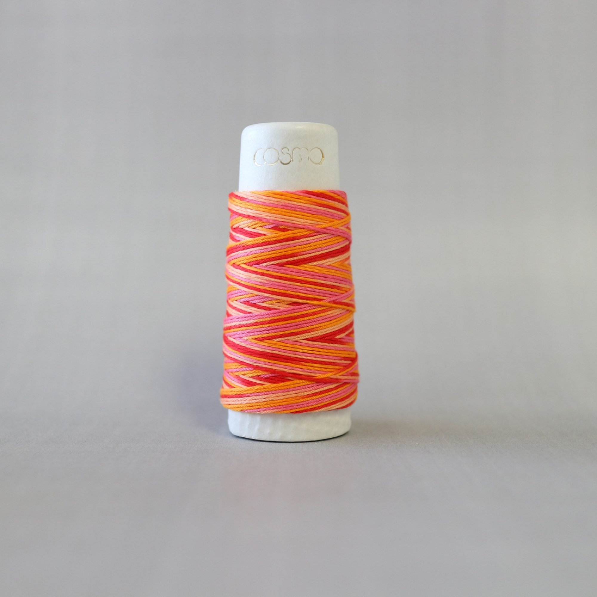 Lecien COSMO hidamari & Sashiko Variegated Cotton Thread - 30m - No. 89-301 Tequila Sunrise