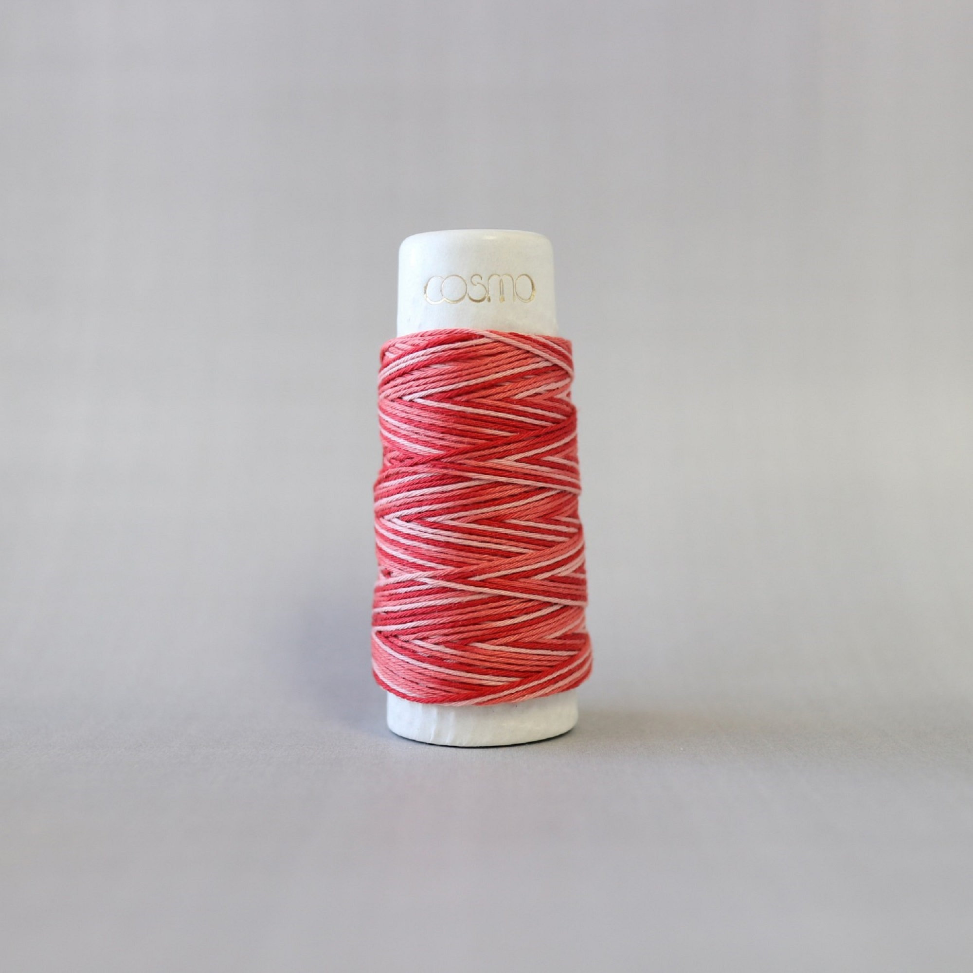 Lecien COSMO hidamari & Sashiko Variegated Cotton Thread - 30m - No. 89-402 Rose Banquet
