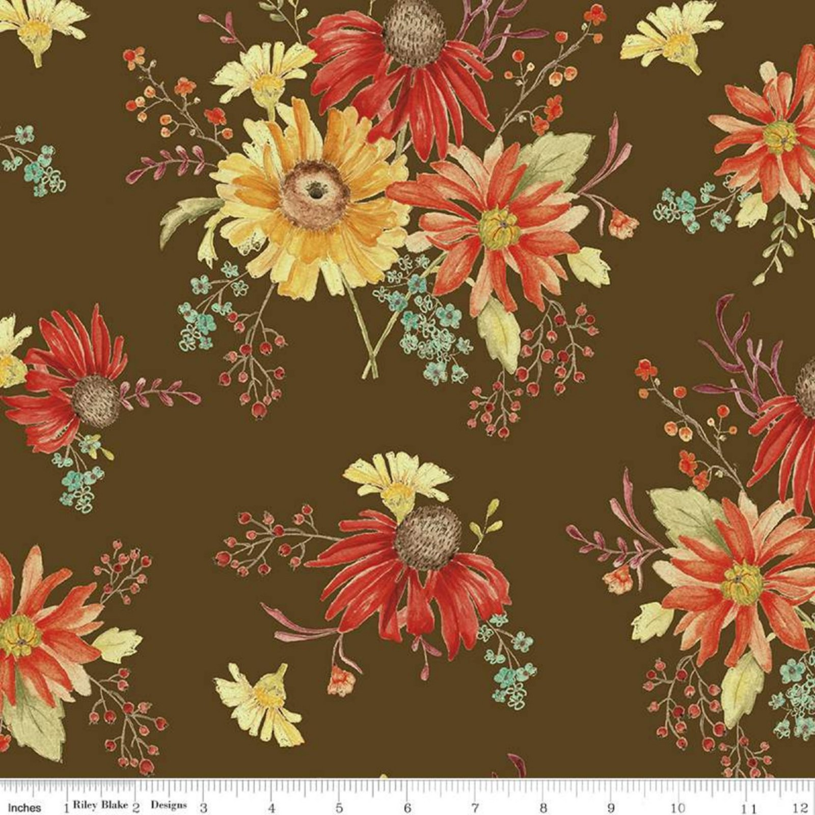 Adel In Autumn- Main Chocolate By Sandy Gervais- Riley Blake Fabrics
