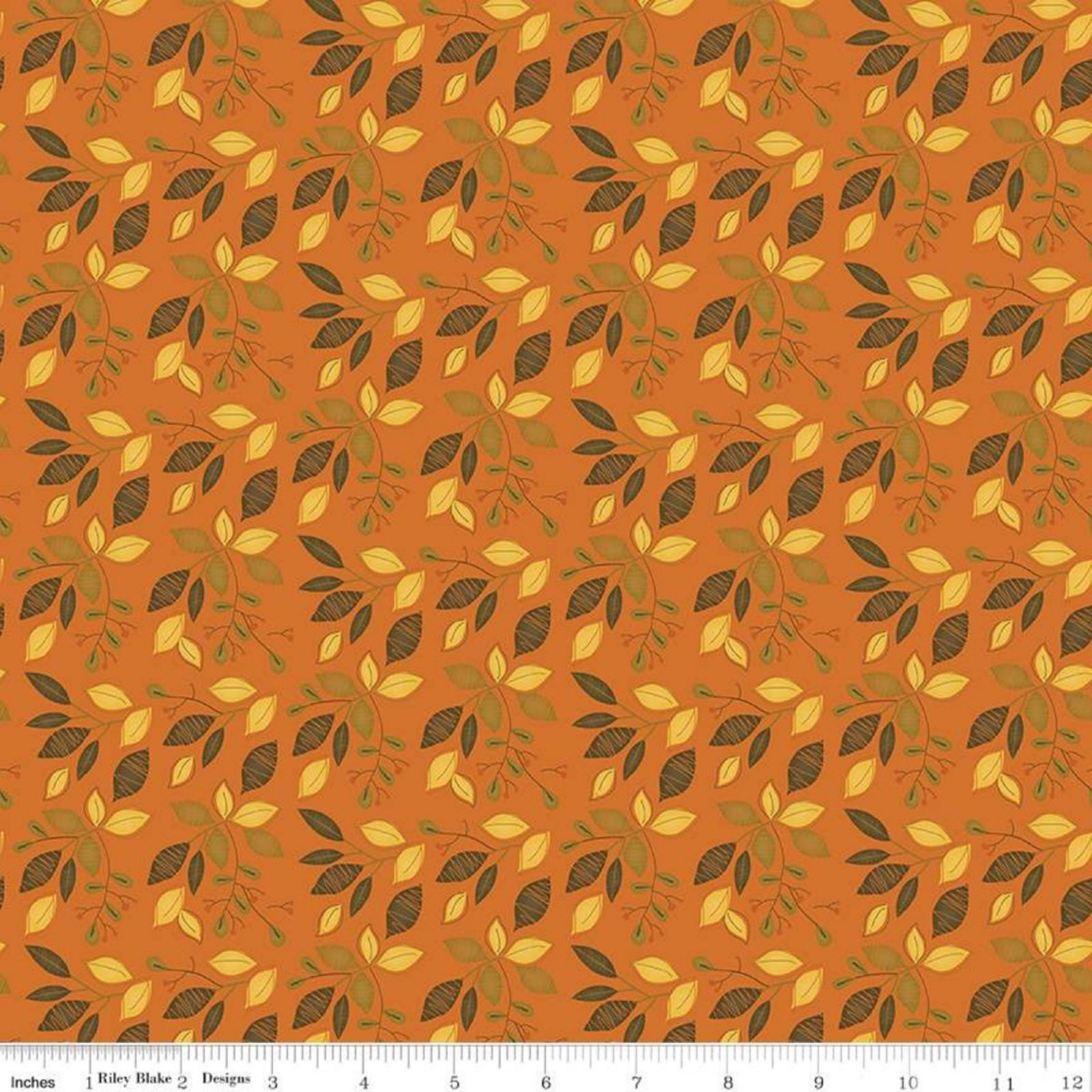 Adel In Autumn- Leaves Orange By Sandy Gervais- Riley Blake Fabrics