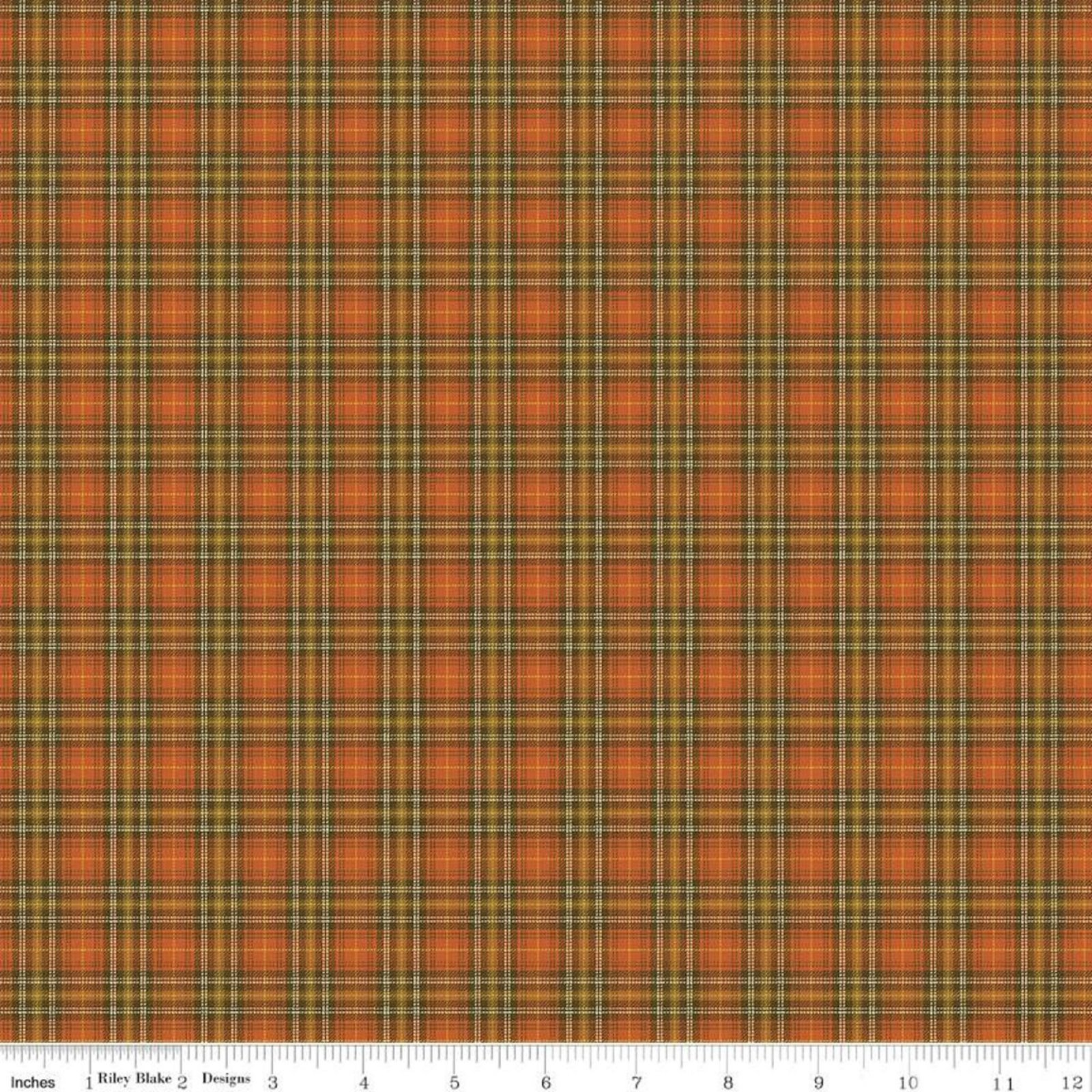 Adel In Autumn- Plaid Persimmon By Sandy Gervais- Riley Blake Fabrics