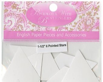 Sue Daley 1-1/2  6 Pointed Star EPP Paper Pieces