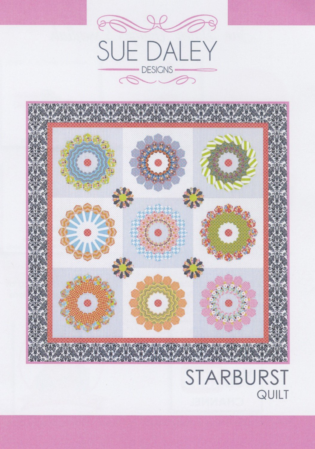 Sue Daley Starburst Quilt Pattern, Templates And Paper Pieces