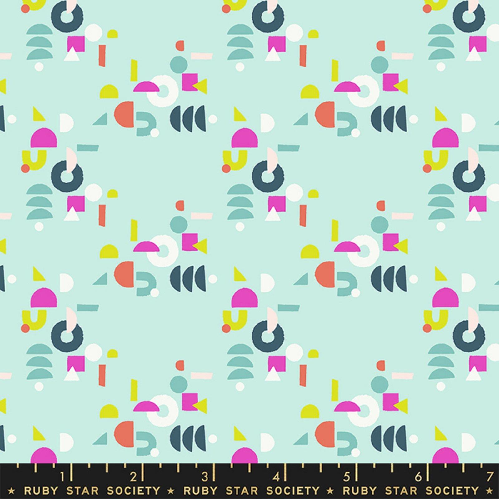 Adorn- Puzzling Geometric- Frost By Rashida Coleman Hale- Ruby Star Society- Moda