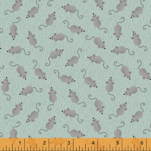 Fat Cats Mice on Turquoise